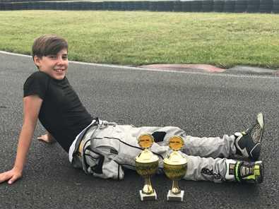 Hitziges ADAC-Kart-Cup-Rennen f�r Pablo Kramer vom AC Hamm/Sieg