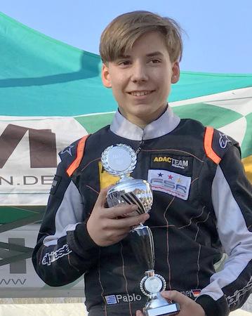 Pablo Kramer wird Tages-Dritter beim ADAC Kart Cup