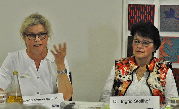 Die beiden Referentinnen beim VdK-Kreisfrauentag 2018: Schwester Monika Mordziol (links) und Dr. med. Ingrid Stollhoff (rechts). Foto: privat