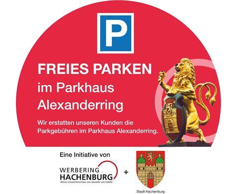 Kostenfrei parken im Parkhaus am Alexanderring