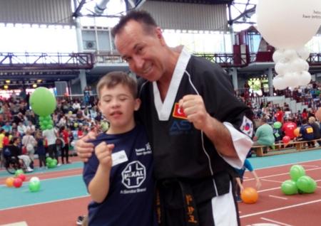 Daadener Paul-Lukas Knautz beim Deutschen Down-Sportlerfestival