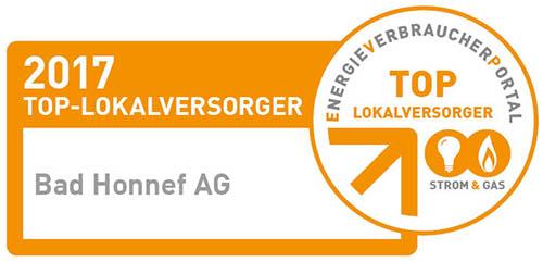 Bad Honnef AG: Top-Lokalversoger Strom und Gas 2017