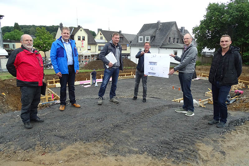 Bauarbeiten Neubau des Zentralen Pfarrbüros in Rennerod gestartet