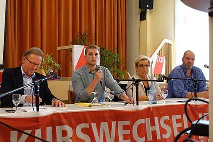 Podiumsdiskussion des DGB und der IG Metall zur Bundestagswahl