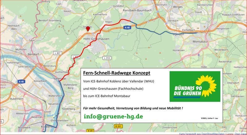 Schnell-Fern-Radwegekonzept Koblenz - Höhr-Grenzhausen - Montabaur
