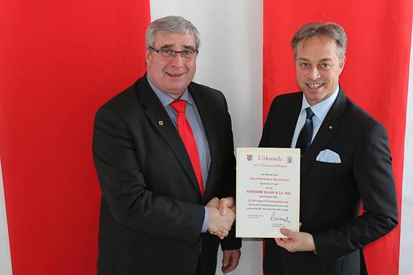 Bürgermeister Merz gratuliert zum 25-jährigen Bestehen