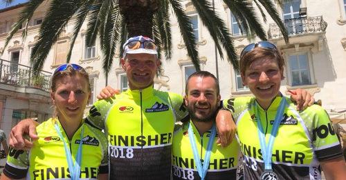 Horhausener Radler absolvierten Tour Transalp