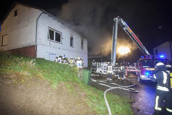 Wohnhaus in Ratzert nach Brand unbewohnbar