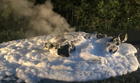 Motorroller war in Brand geraten