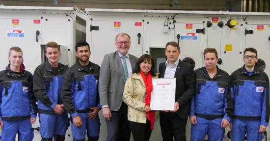 Mit Strategie gegen den Fachkr�ftemangel: Rox-Klimatechnik erh�lt Zukunfts-Zertifikat