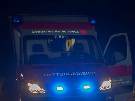 Schwerer Verkehrsunfall mit eingeklemmter Person in Niederdreisbach