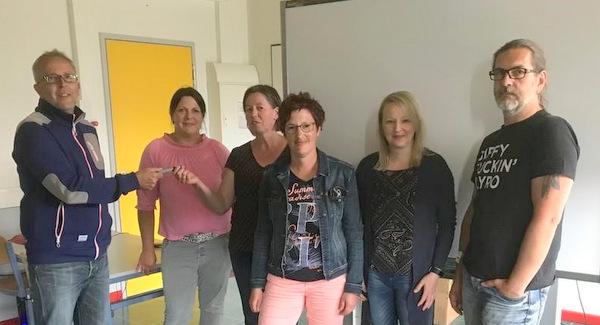 Neues Smartboard für die Grundschule Scheuerfeld