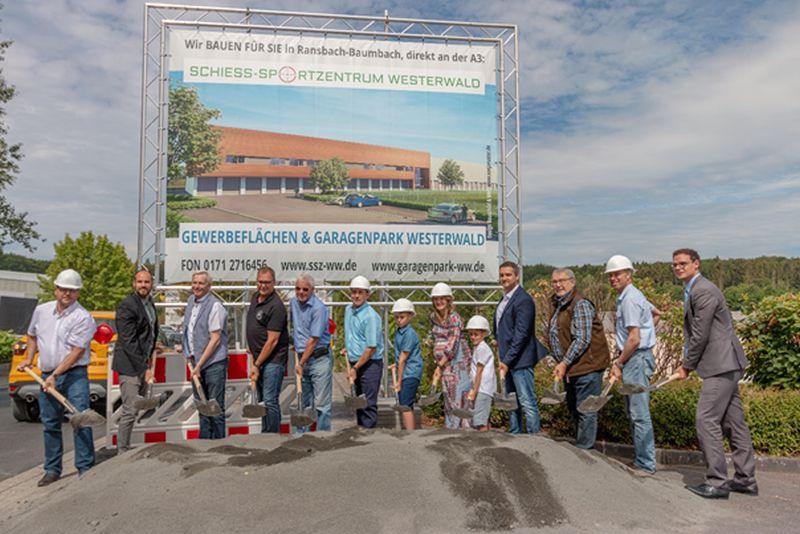 Baubeginn des Schieß-Sportzentrums Westerwald