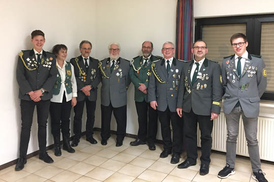 Neuer Vorstand der Schützenbruderschaft Rothe-Kreuz