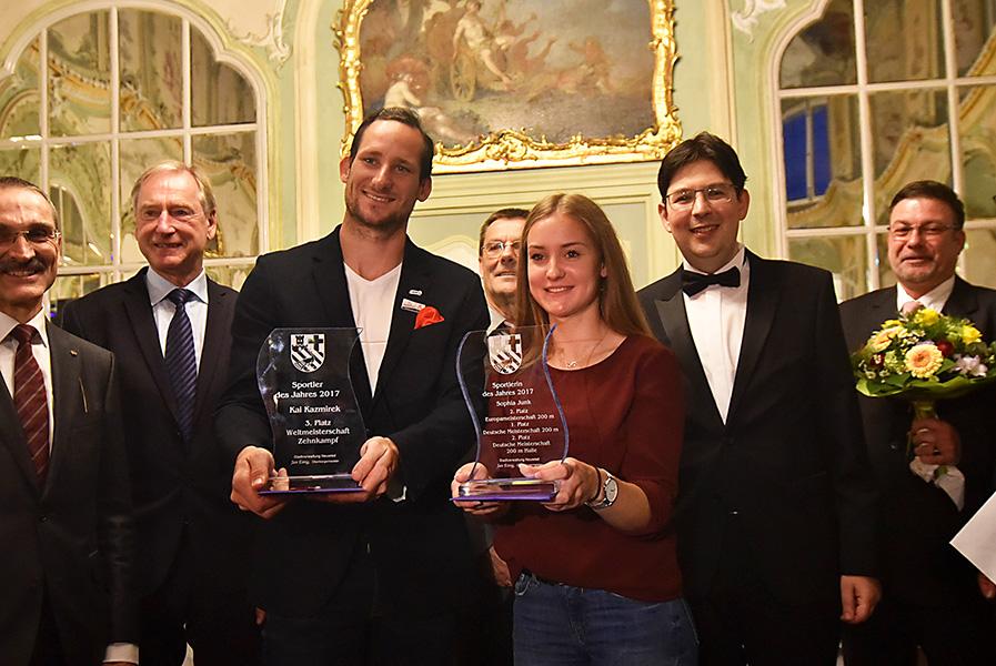 Die Sportlerin Sophia Junk und der Sportler Kai Kazmirek des Jahres. Fotos: Uwe Schumann