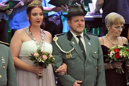 Marenbacher Sch�tzen feierten mit K�nigin Mandy I.