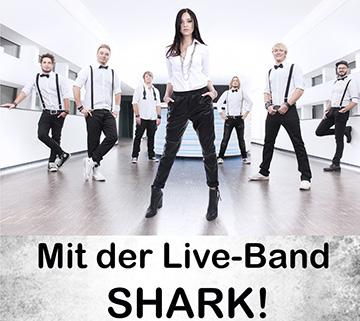 """Kirmes in Rosenheim mit der Liveband """"Shark"""" und Mallorca-Party"""