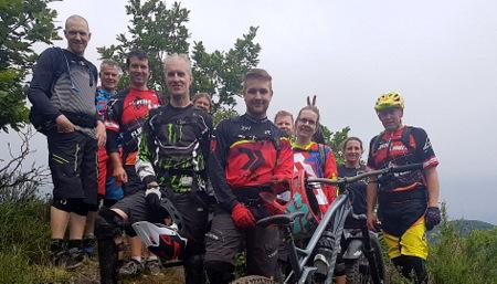 Mountainbiker erkundeten den Pf�lzer Wald