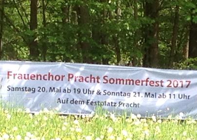 Frauenchor Pracht l�dt zum Sommerfest