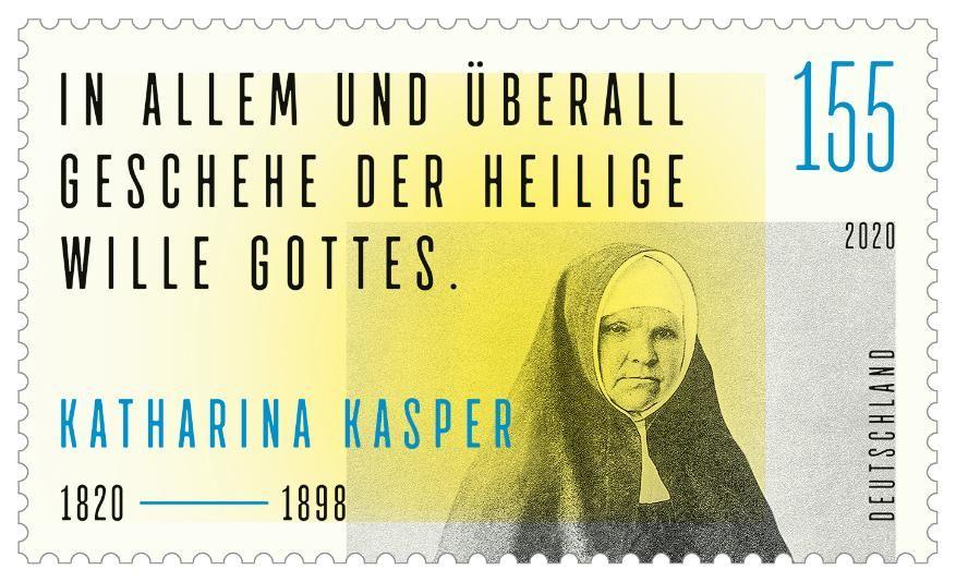 """Sonderpostwertzeichen """"200. Geburtstag Katharina Kasper"""""""