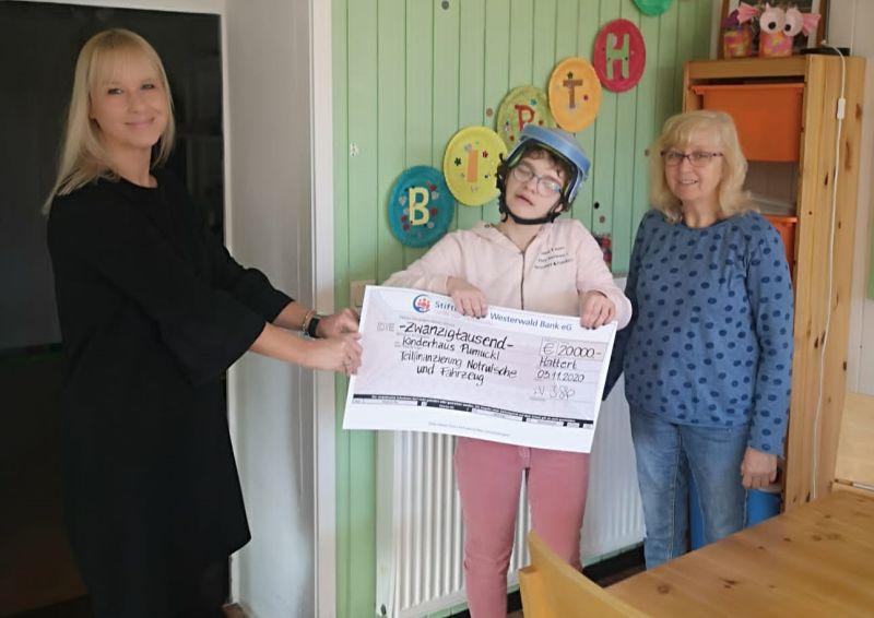Stiftung der Westerwald Bank eG unterstützt Kinderhaus Pumuckl