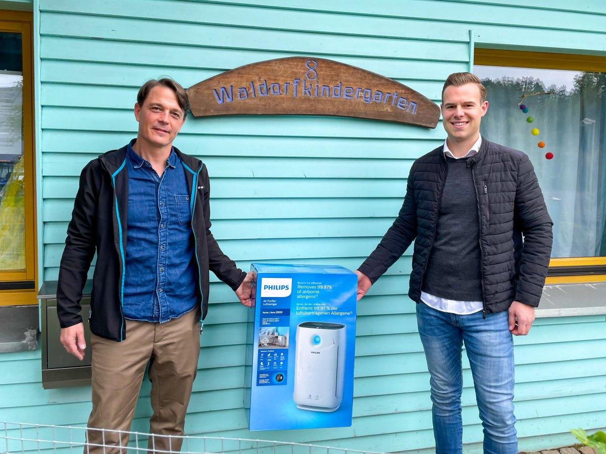 Spende eines Luftreinigungsgerät für Waldorf-Kindergarten Betzdorf/Kirchen