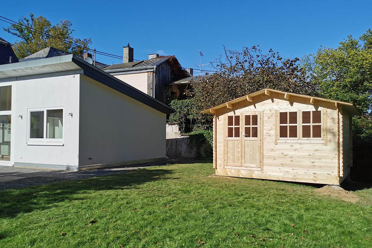 LEADER-Bürgerprojekt: Gartenhütte am Haus Neitzert