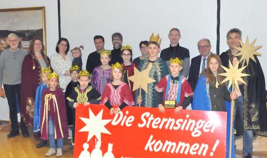 Sternsinger f�r 2019 wurden in der Verwaltung empfangen