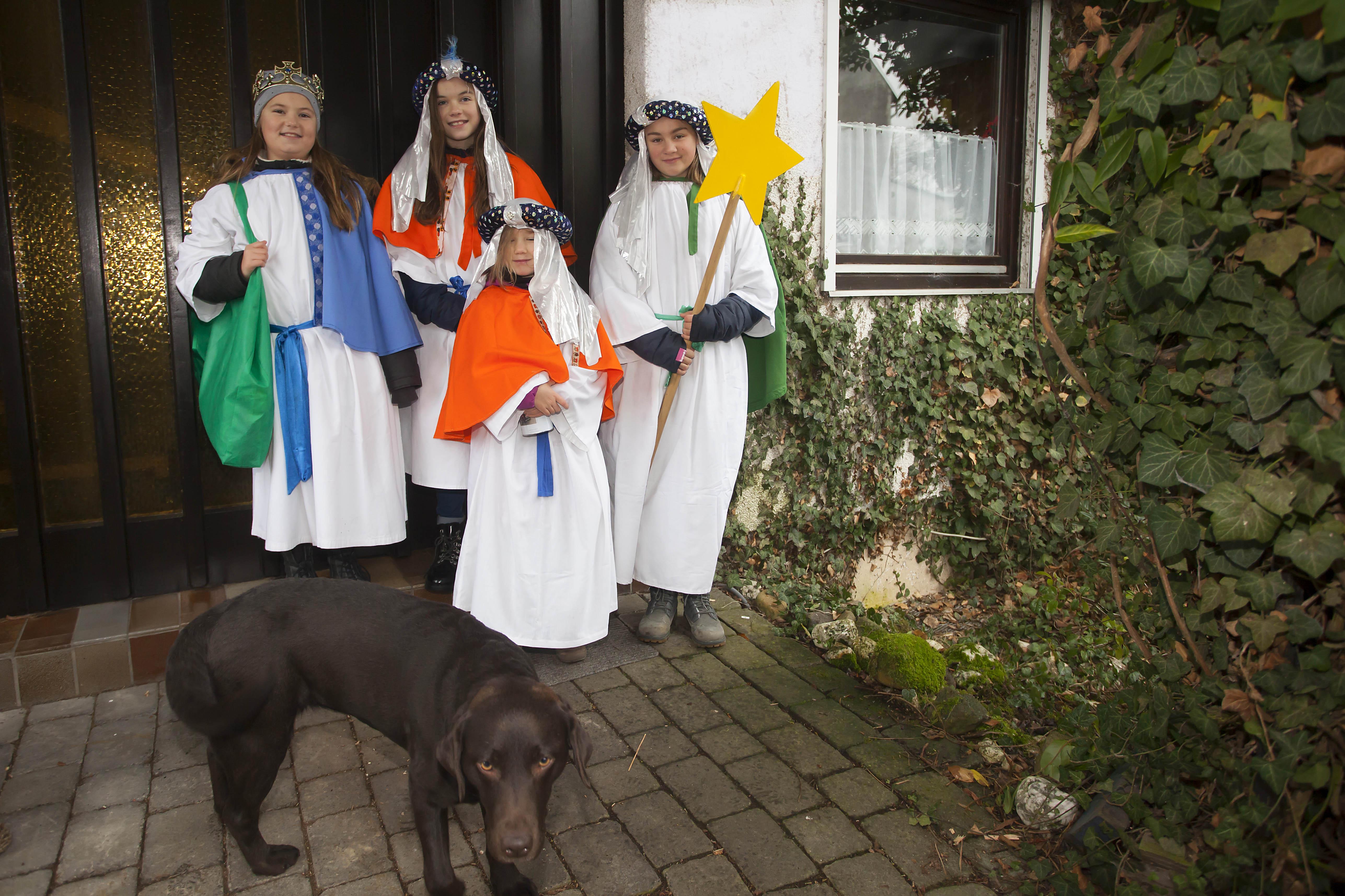 46 Sternsinger in der Pfarrei Dierdorf im Einsatz