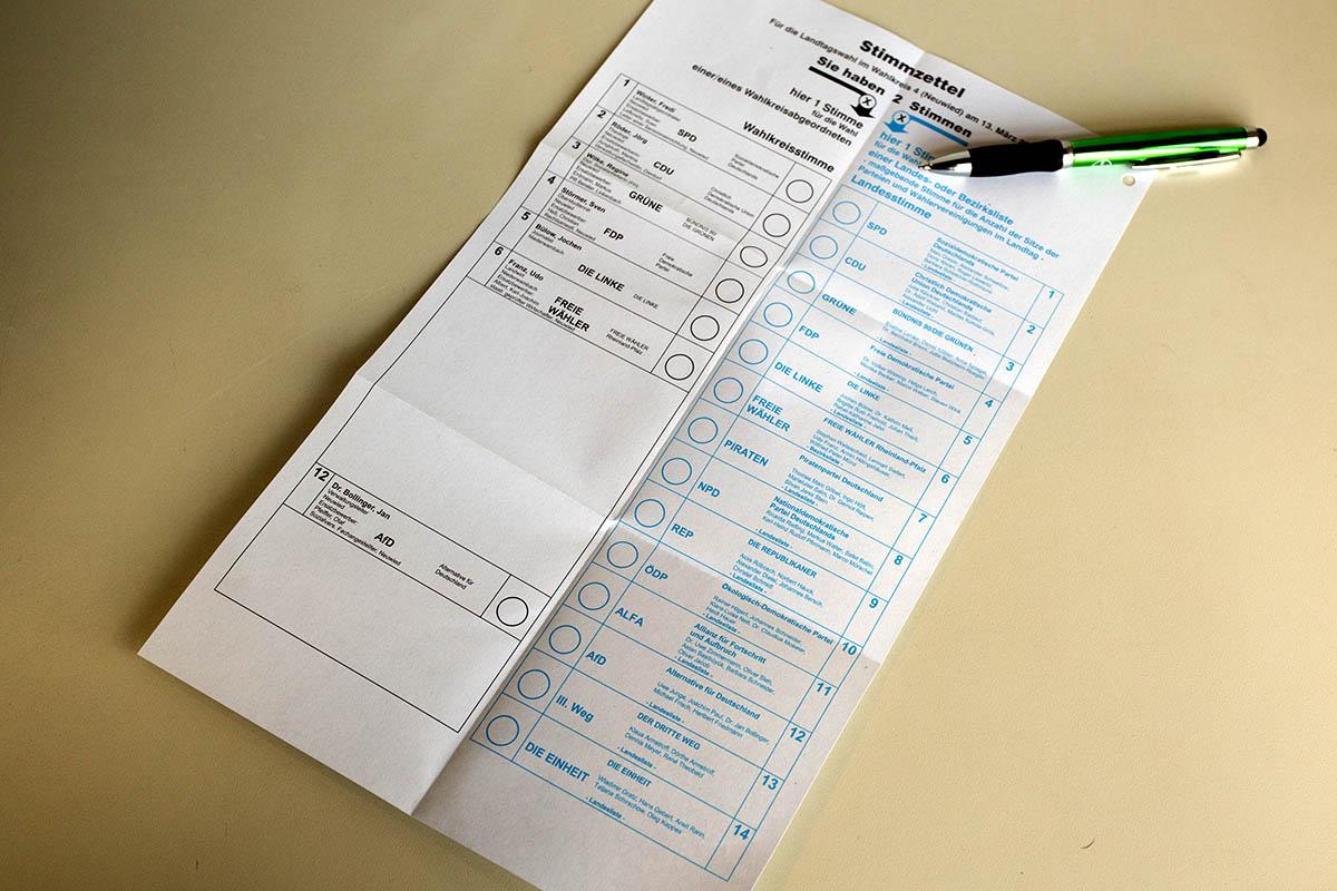Eilantrag gegen Gestaltung Stimmzettel für Landtagswahl 2021 erfolglos