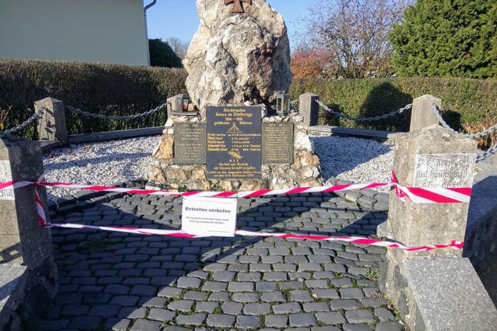 Kriegerdenkmal in Stockhausen ist baufällig