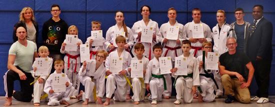Gürtelprüfungen bei Sporting Taekwondo waren ein voller Erfolg