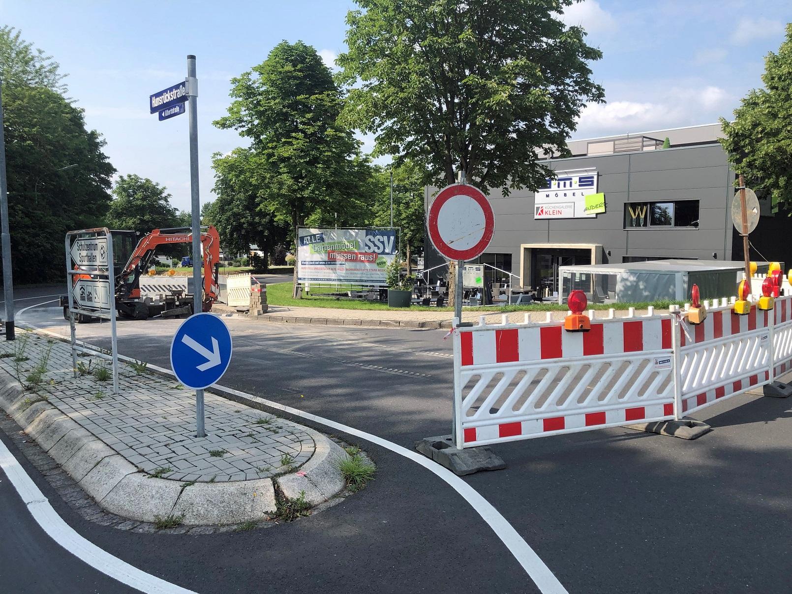 Bordsteine in der Hunsrückstraße werden abgesenkt