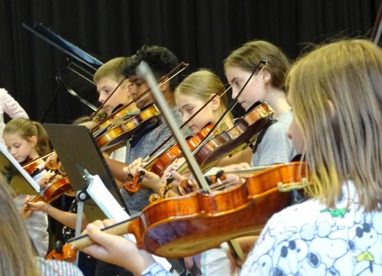 Zum kommenden Schuljahr 2019/2020 bietet das Freiherr-vom-Stein Gymnasium in Betzdorf wieder eine Streicherklasse für die neuen Fünftklässler an. (Foto: FvSG)