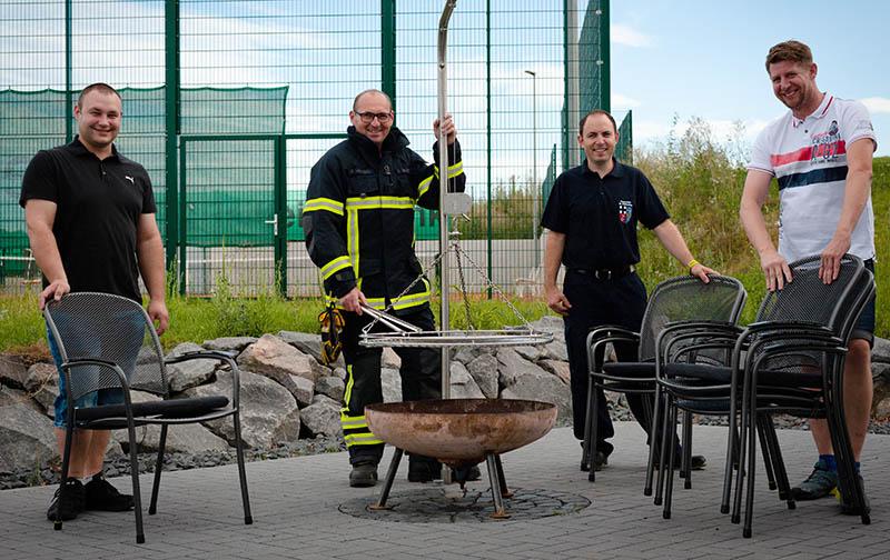 Grillplatz für Feuerwehr ohne Grill und Sitzgelegenheit