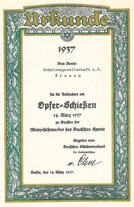 Alte Urkunde erinnert an unselige Zeit