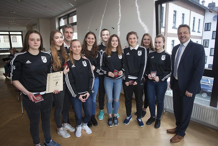 B-Juniorinnen des SV Rengsdorf 1926 ausgezeichnet