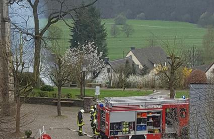 Thujahecke und Container am Friedhof Oberlahr gerieten in Brand