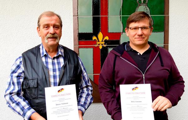 Langjährige Ratsarbeit: Dieter Tiefenau und Dirk Jamann geehrt