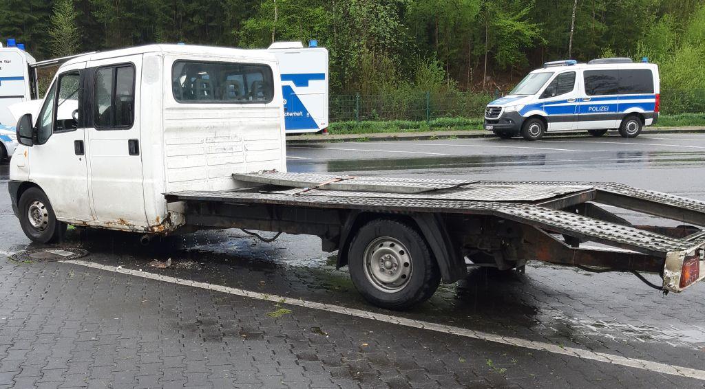 Schrottfahrzeug aus Osteuropa stillgelegt