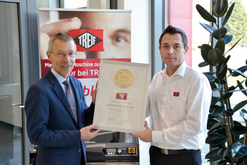 Auszeichnung �Premium-Marke� f�r Brotschneider von Treif