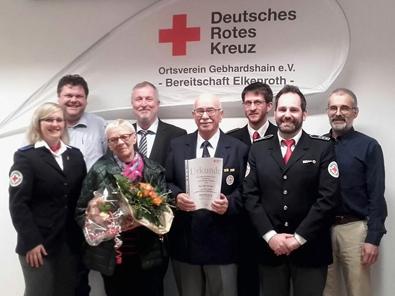 Udo Schneider Ehrenmitglied im DRK-Ortsverein Gebhardshain