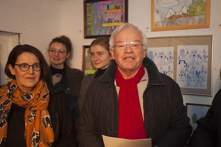 Ulrich Christian konnte viele Gäste begrüßen. Fotos: Wolfgang Tischler