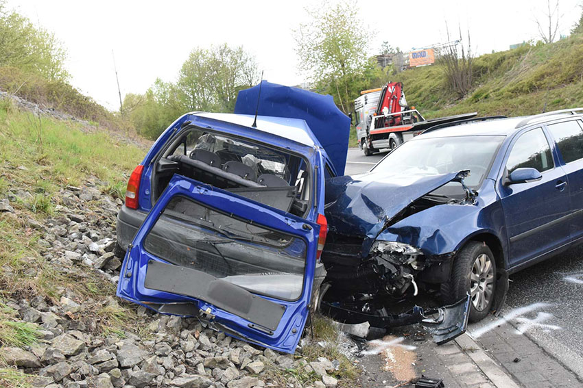 Schwerer Verkehrsunfall auf der Umgehungsstraße Siershahn