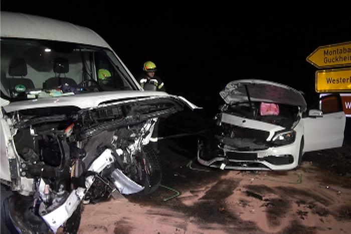 Unfall mit zwei Schwerverletzten bei Westerburg