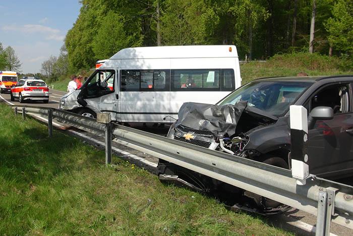 Unfall auf der L 307 bei Quirnbach – drei Verletzte
