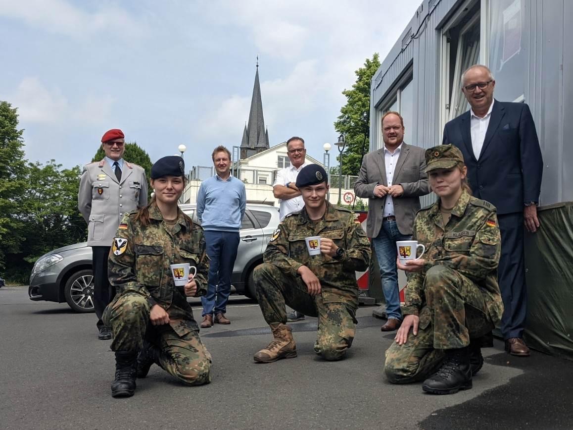 Soldaten am Testzentrum Kirchen verabschiedet