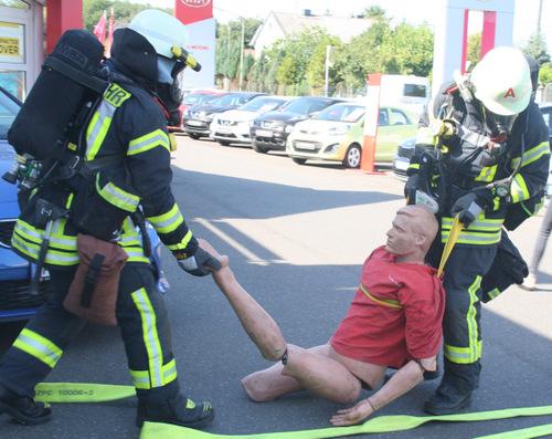 Hammer Feuerwehr übte in Bruchertseifen