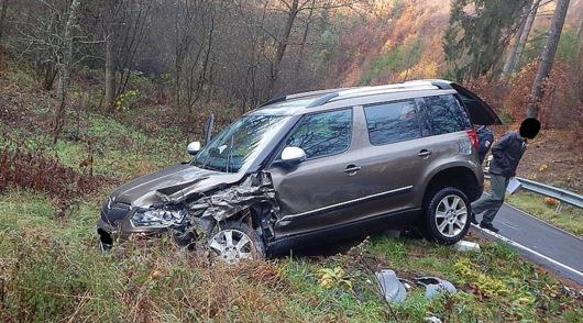 Unfall auf der K 69: 13.000 Euro Sachschaden