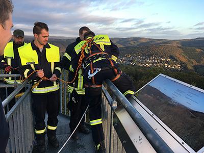 Neue H�hensicherungsgruppe der VG-Feuerwehr einsatzbereit